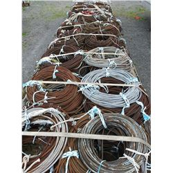 20 PALLETS OF ASST CABLE ON DROP DECK TRAILER