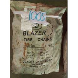 PAIR OF TIRE CHAINS, BY QUALITY CHAIN CORP 2249QC