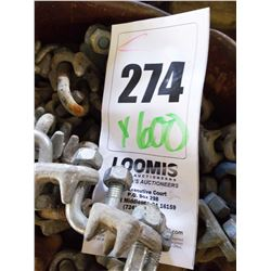 NEW , LIKE NEW ,USED ASST U BOLT CABLE CLAMPS