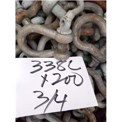 ASST NEW,LIKE NEW ANCHOR SHACKLES/ASST SIZE LRG LOT