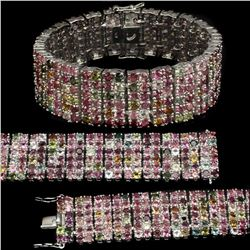 Natural Fancy Colors Tourmaline 274 Carats bracelet