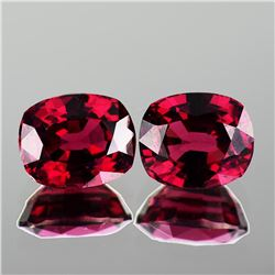 Natural  Pink Red Rhodolite Garnet Pair 7.5x6 MM - FL