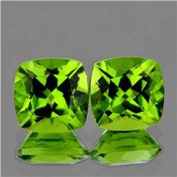Natural Green Peridot Pair (Flawless-VVS1)