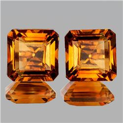 NATURAL GOLDEN ORANGE CITRINE PAIR [IF-VVS]