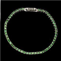 Natural Unheated Round Tsavorite Garnet Bracelet