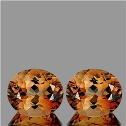 NATURAL CHAMPAGNE IMPERIAL TOPAZ PAIR 11x9 MM