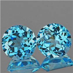 Natural Top Sky Blue Topaz Pair 8.00 MM