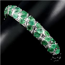 Natural Rich Green Emerald Bangle