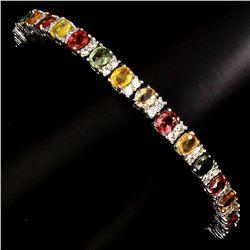 Natural Top Fancy Colors Sapphire Bracelet