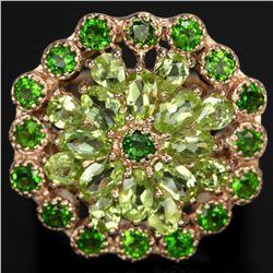 NATURAL GREEN CHROME & GREEN PERIDOT Ring