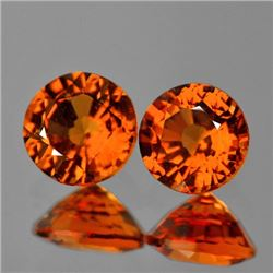 Natural  Mandarin Orange Spessartite Garnet Pair