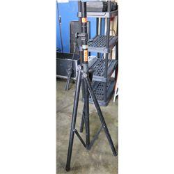 Qty 20 Tall Black Metal Tripod Adjustable Speaker Stands
