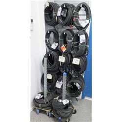 Multiple Misc Size Rapco Horizon Concert Series Coils Speaker Wire (rolling carts not included)