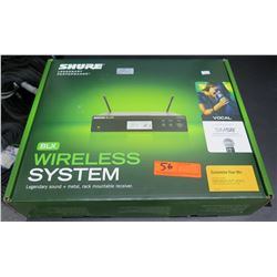 New in Box SHURE BLX4R Wireless System Mountable Receiver