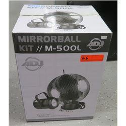 """New in Box ADJ American Disc Jockey Mirror Ball Kit M500L 12"""" Disco Ball"""