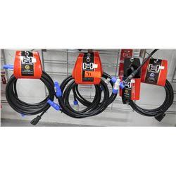 Multiple Misc Hose Technology PowerCON to Nema 5-15P, Video VGA AV cable, etc