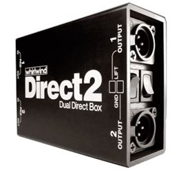 Whirlwind Direct2 Dual 2 Channel Passive Direct Box