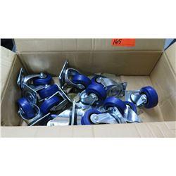 Box Multiple Misc Casters w/ Blue Wheels