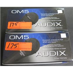 Qty 2 Audix OM5 Dynamic Vocal Microphone