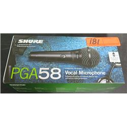 SHURE PGA58 Cardoid Dynamic Handheld Microphone