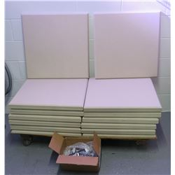 Approx. Qty 24 Square Padded Sound Panels & Mounting Hardware