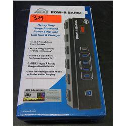 ADJ American DJ Pow-R Bar6 Heavy Duty Power Strip w/ Surge Protector & USB