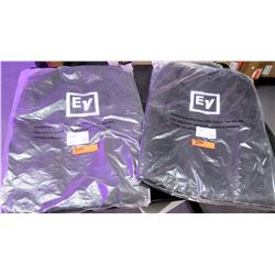 Qty 2 EV Electro Voice ZLX-15-CVR Padded Speaker Covers Case