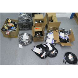 Multiple Misc Hosa, Accenta, Accu-Cable IEC Extension Cords, DMX Cables, etc