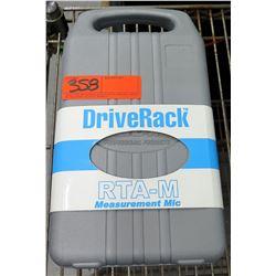 DriveRack RTA-M RTA Flat Frequency Measurement Microphone