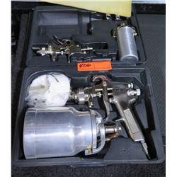 Paint Spray Gun Kit w/ Accessories in Hard Case