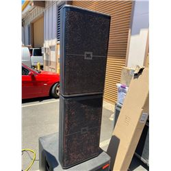 Qty 2 JBL SRX700 Series Professional Loudspeakers w/ Case (2 horns need to be replaced, subs pound)