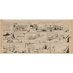 Alex Raymond original Sunday comic strip artwork for Jungle Jim #1 – origin and first appearance.