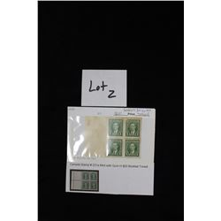 Stamp #231a mint with gum H20 CV Booklet tone