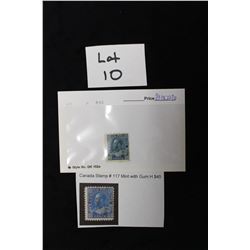 Canada stamp # 117 Mint with Gum H $45 CV