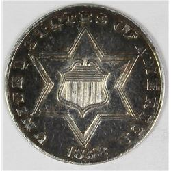 1858 THREE CENT SILVER TYPE 2