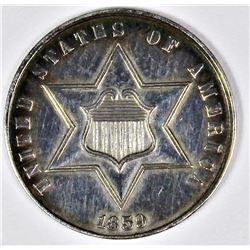 1859 THREE CENT SILVER TYPE 2
