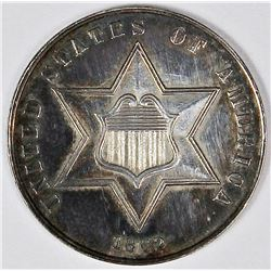 1862 THREE CENT SILVER TYPE 2