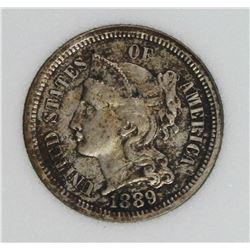 1889 THREE CENT NICKEL