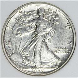 1917-D REVERSE WALKING LIBERTY HALF DOLLAR