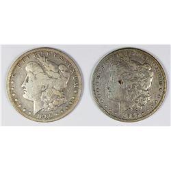1886-O AND 1886-S MORGAN SILVER DOLLARS