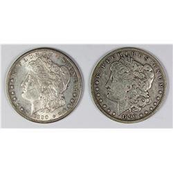 1890-O AND 1890-S MORGAN SILVER DOLLARS