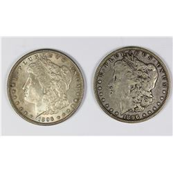 1896 AND 1896-O MORGAN SILVER DOLLAR