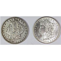1904 AND 1904-O MORGAN SILVER DOLLARS