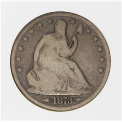 1873-CC ARROWS SEATED HALF DOLLAR