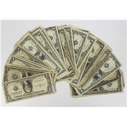 50 PCS. $1.00 SILVER CERTIFICATES
