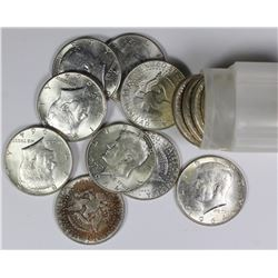 ROLL OF 1964 KENNEDY SILVER HALF DOLLARS