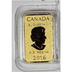 2016 CANADA 1/10 OZ