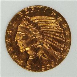 1909-D $5 GOLD INDIAN