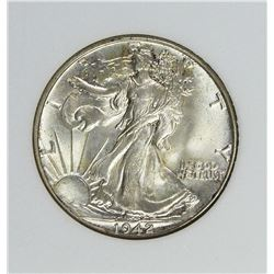 1942 WALKING LIBERTY HALF DOLLAR