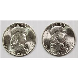 ROLL OF 1949-P FRANKLIN HALVES